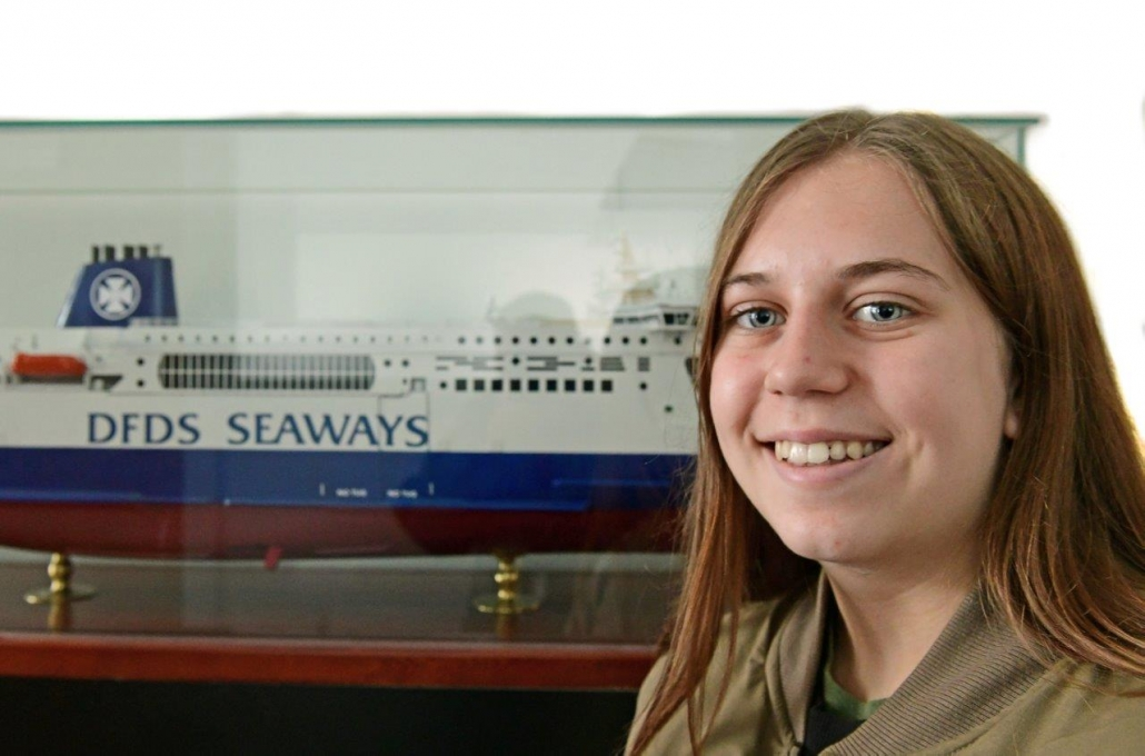 East Kent College student Zoe Lawton dreams about being the first female Chief Engineer at DFDS